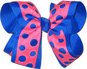 Electric Blue Tutti Fruity Large Double Layer Bow