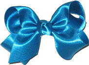 Toddler Blue Grotto Satin Bow