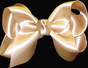 Toddler Dark Champagne Satin Bow