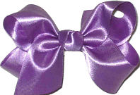 Toddler Grape Satin Bow