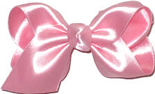 Toddler Pink Satin Bow