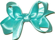 Small Aquamarine Satin Bow