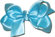 Small Mystic Blue Satin Bow