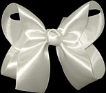 Medium Antique White Satin Bow