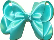 Medium Aquamarine Satin Bow