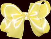 Medium Baby Maize Satin Bow