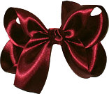 Medium Beet Satin Bow