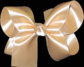 Medium Beige Satin Bow