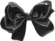 Medium Black Satin Bow