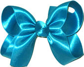 Medium Blue Grotto Satin Bow