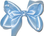 Medium Blue Satin Bow