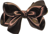 Large Brown Satin Bow