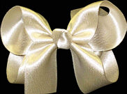 Medium Champagne Satin Bow