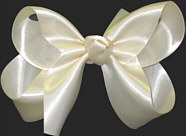 Medium Creme Satin Bow
