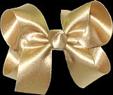Medium Dark Champagne Satin Bow