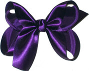 Medium Deep Plum Satin Bow