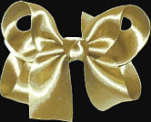 Medium Dijon Satin Bow