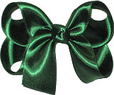 Medium Evergreen Satin Bow