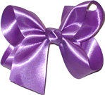 Medium Grape Satin Bow