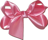 Medium Hot Pink Satin Bow