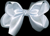 Medium Light BLue Satin Bow