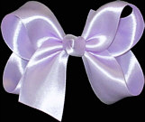 Medium Light Orchid Satin Bow