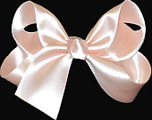 Medium Light Peach Satin Bow