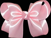 Medium Light Pink Satin Bow
