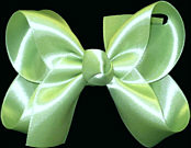 Medium Lime Juice Satin Bow