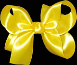 Medium Maize Satin Bow