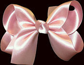 Medium Mauve Satin Bow