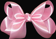 Medium Pink Satin Bow