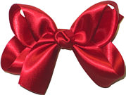 Medium Red Satin Bow