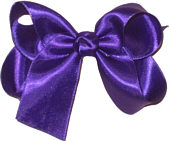 Medium Regal Purple Satin Bow