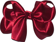 Medium Scarlet Satin Bow