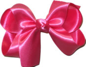 Medium Shocking Pink Satin Bow