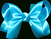 Medium Turquoise Satin Bow