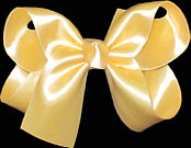 Medium Wheat Satin Bow