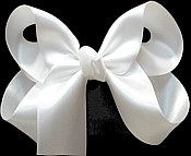 Medium White Satin Bow