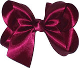 Medium Wine Satin Bow