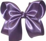 Large Amethyst Satin Bow