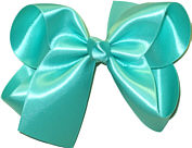Large Aquamarine Satin Bow