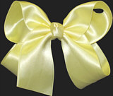 Large Baby Maize Satin Bow