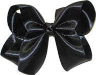 Large Black Satin Bow