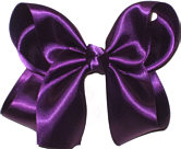 Large Deep Plum Satin Bow