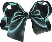 Large Evergreen Satin Bow