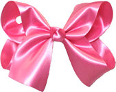 Large Hot Pink Satin Bow