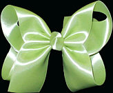 Large Lime Juice Satin Bow