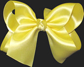 Large Maize Satin Bow