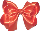 Large Orange Satin Bow